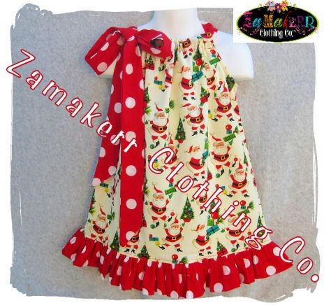 Items similar to Custom Boutique Clothing Christmas Girl Jumper Pillowcase Tunic Ruffle Dress 3 6 9 12 18 24 month size 2 3 4 5 6 7 8 on Etsy