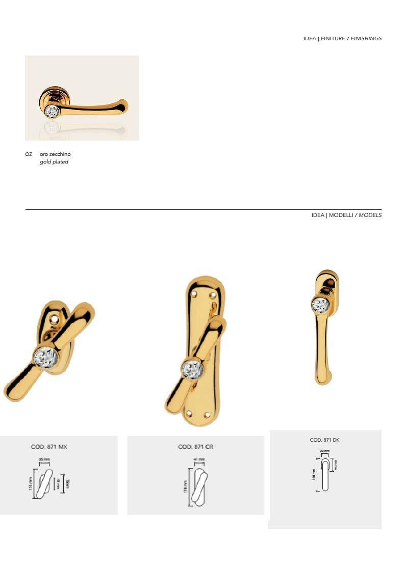 Idea Crystal Modern Brass Window Handles With Swarovski Crystal