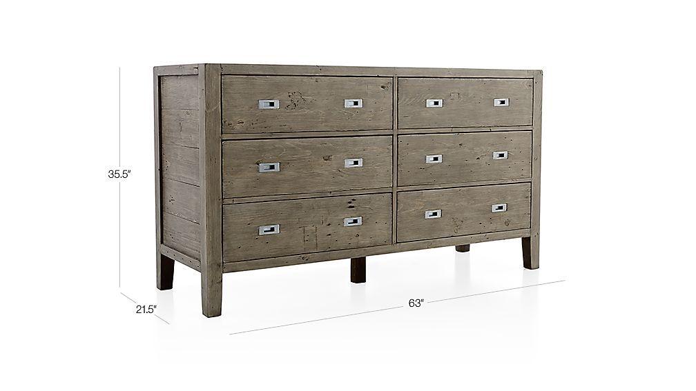 Best Morris Ash Grey 6 Drawer Dresser Dresser Drawers 6 400 x 300