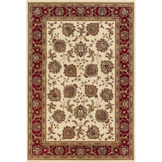 Style Haven Astoria Ivory Red Traditional Area Rug 10 X