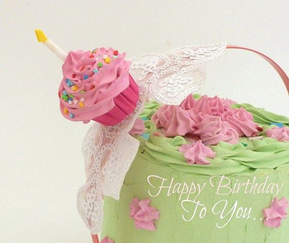 Birthday Headband cupcake with candle graet as birthday party hat - sweet 16 halloween party ideas