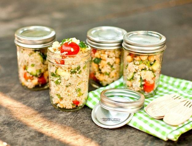 Mason jar single serving salads