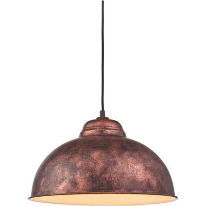 eglo vintage hanglamp truro 37cm antiek koper praxis ideeà n