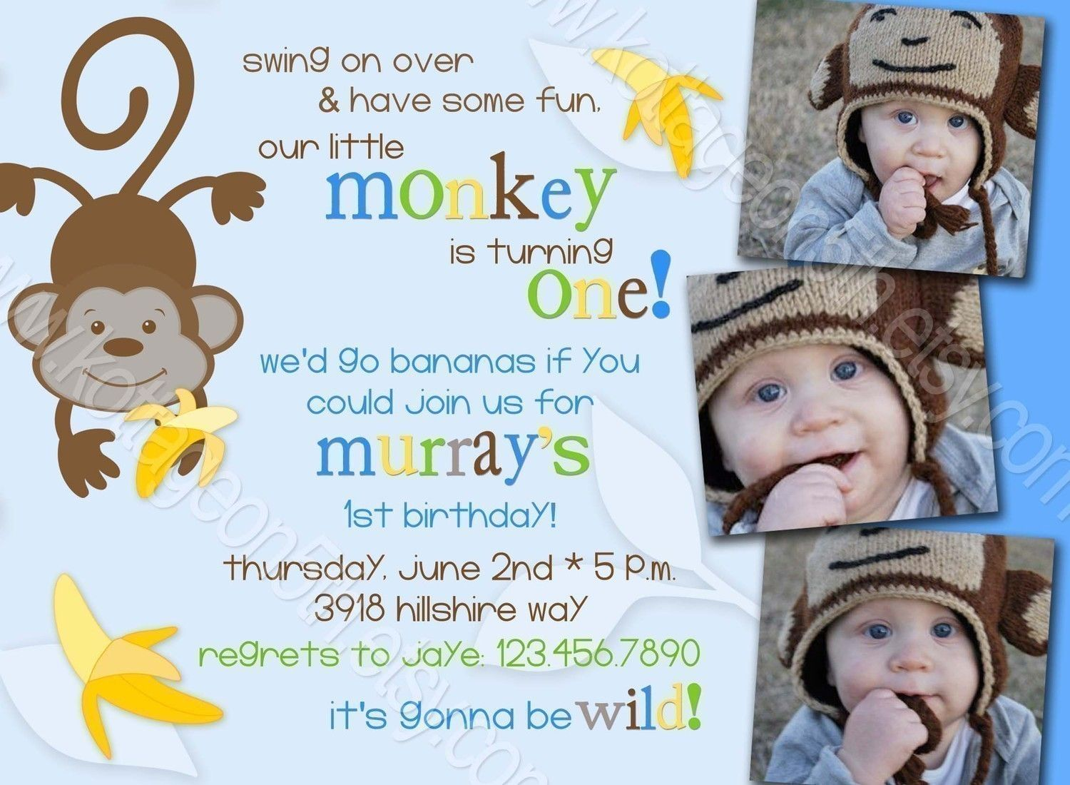 Go Bananas - 3 Photo - Jungle Monkey Birthday Party or Baby Shower ...