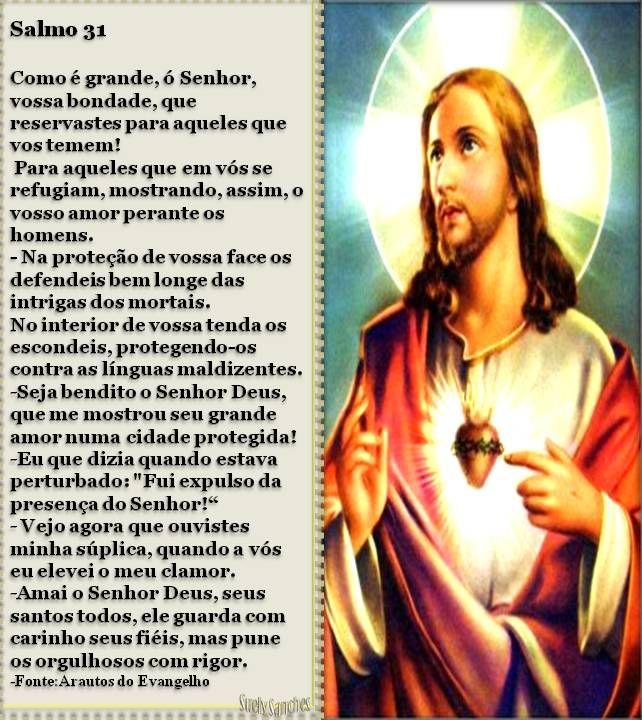 Salmo 31 Estampa Do Sagrado Coracao De Jesus Com Imagens
