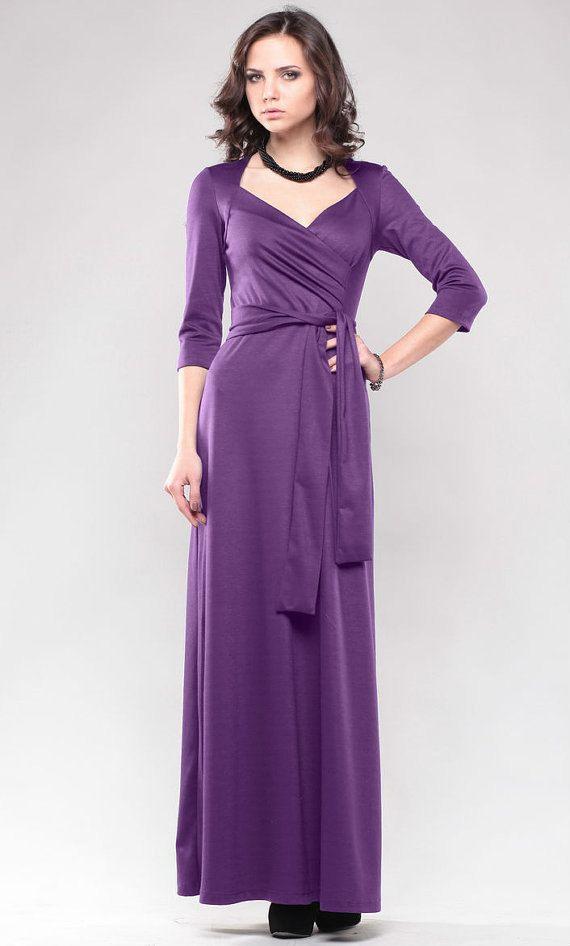 070d1a404 Robe violette. Robe maxi.Occasion robes. Robe de soirée automne ...