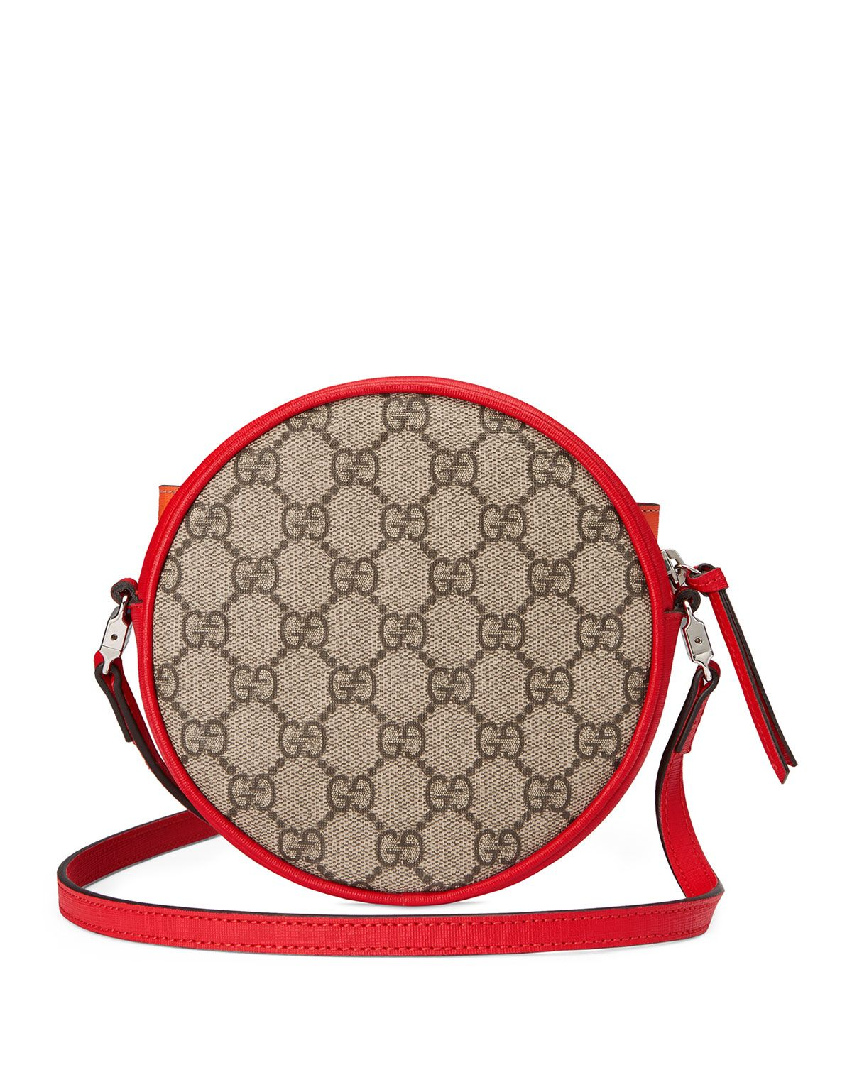653561a24383 Gucci Girls' Circle GG Supreme Crossbody Bag w/ Rainbow Bow | Neiman Marcus