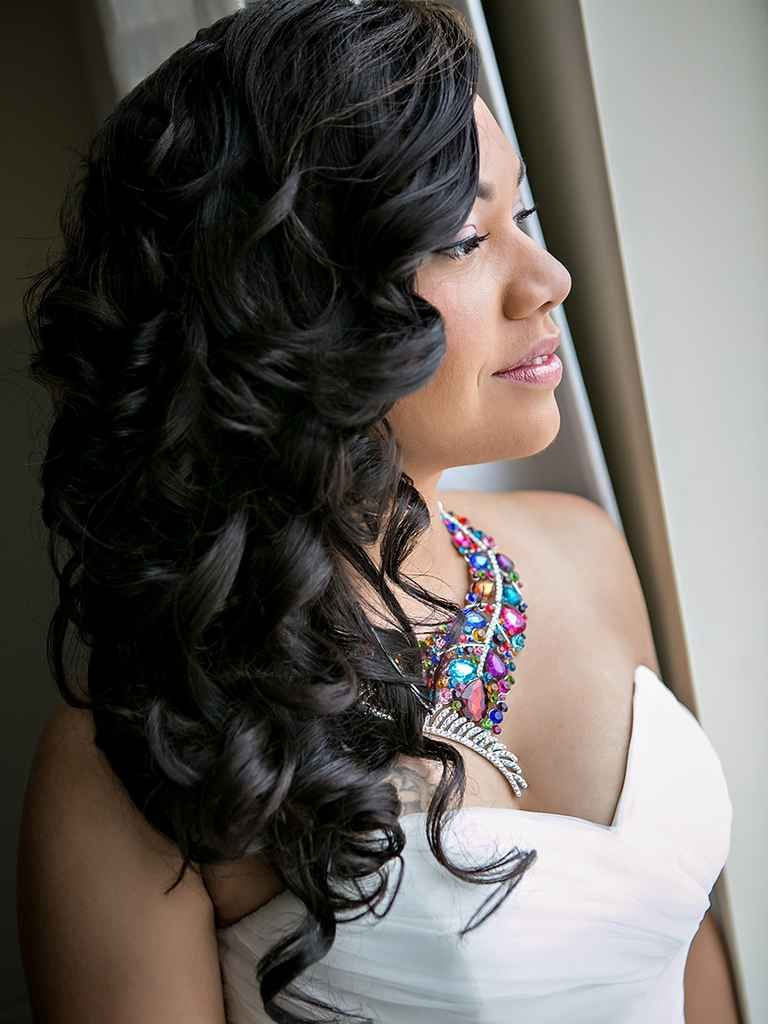 16 Wedding Hairstyles For Curly Hair Black Brides Hairstyles Curly Hair Styles Black Wedding Hairstyles