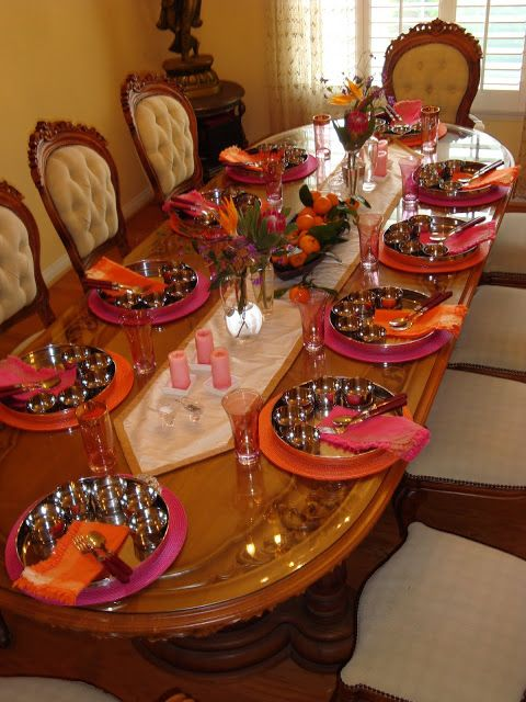 Thali Tablescape Indian Decor Dinning Table Decor Dining Table