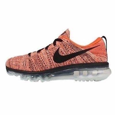best website cb293 6d351 NEW Nike Women s Flyknit Max Hyper Orange Black Sunset Glow 620659-008 SZ  9.5