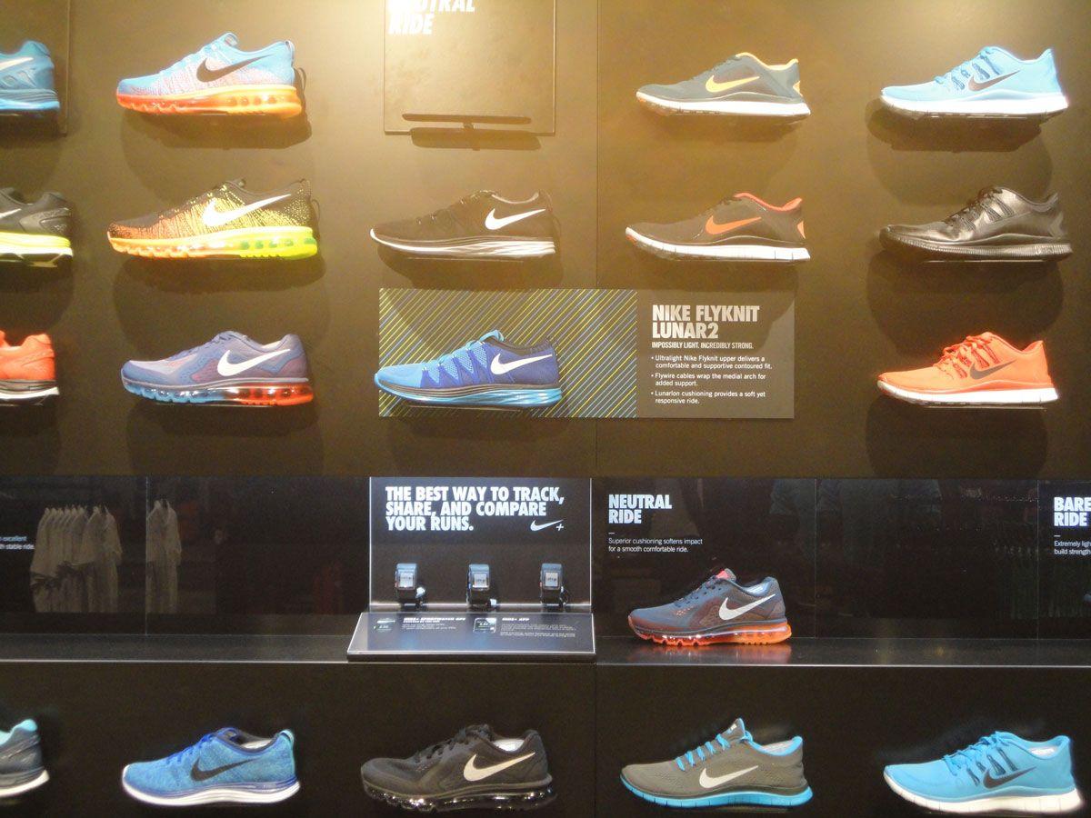 Nike Flyknit Lunar2 footwear wall bay