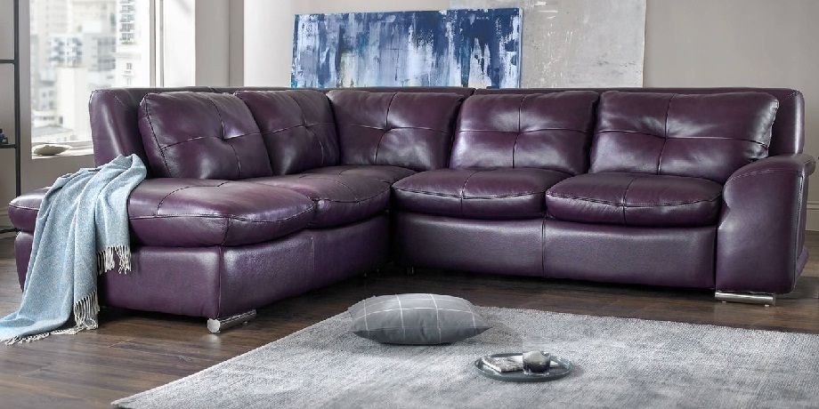 Leather Corner Sofa Purple | Couches and Furniture | Leather corner ...