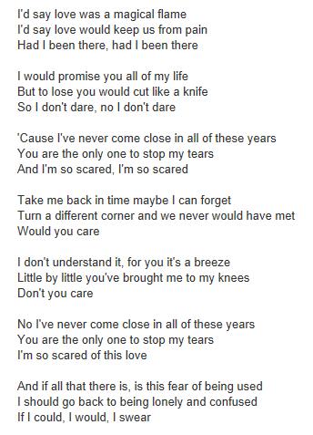 George Michael - A Different Corner Lyrics | MetroLyrics