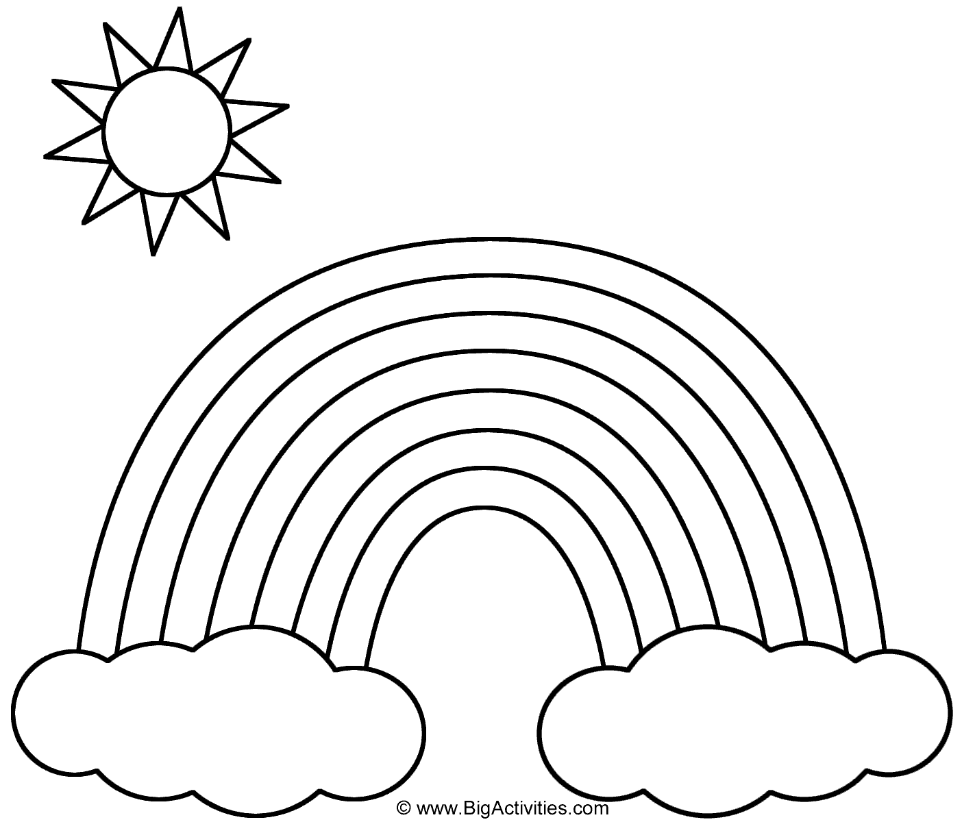 Rainbow Coloring Book Page Looking For The Nice Rainbow Coloring Page Find Here Coloring Pages For Kids Coloring Pages To Print Free Coloring Pages