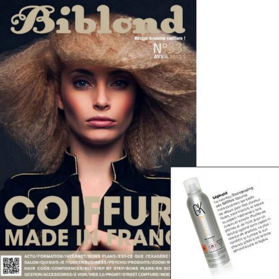 Fransa'da Kuafor Dergisi Biblond - GKHAIR Dry Shampoo (Kuru Sampuan)
