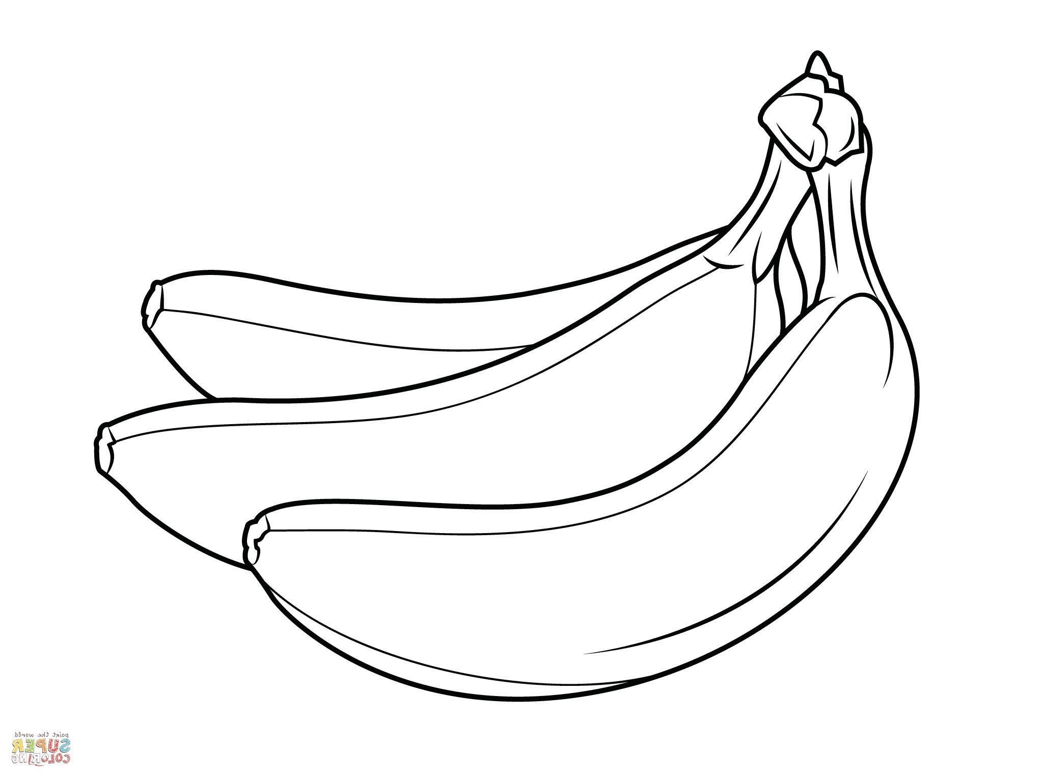 Banana Coloring Page Coloring Pages Coloring Bananas Page Color