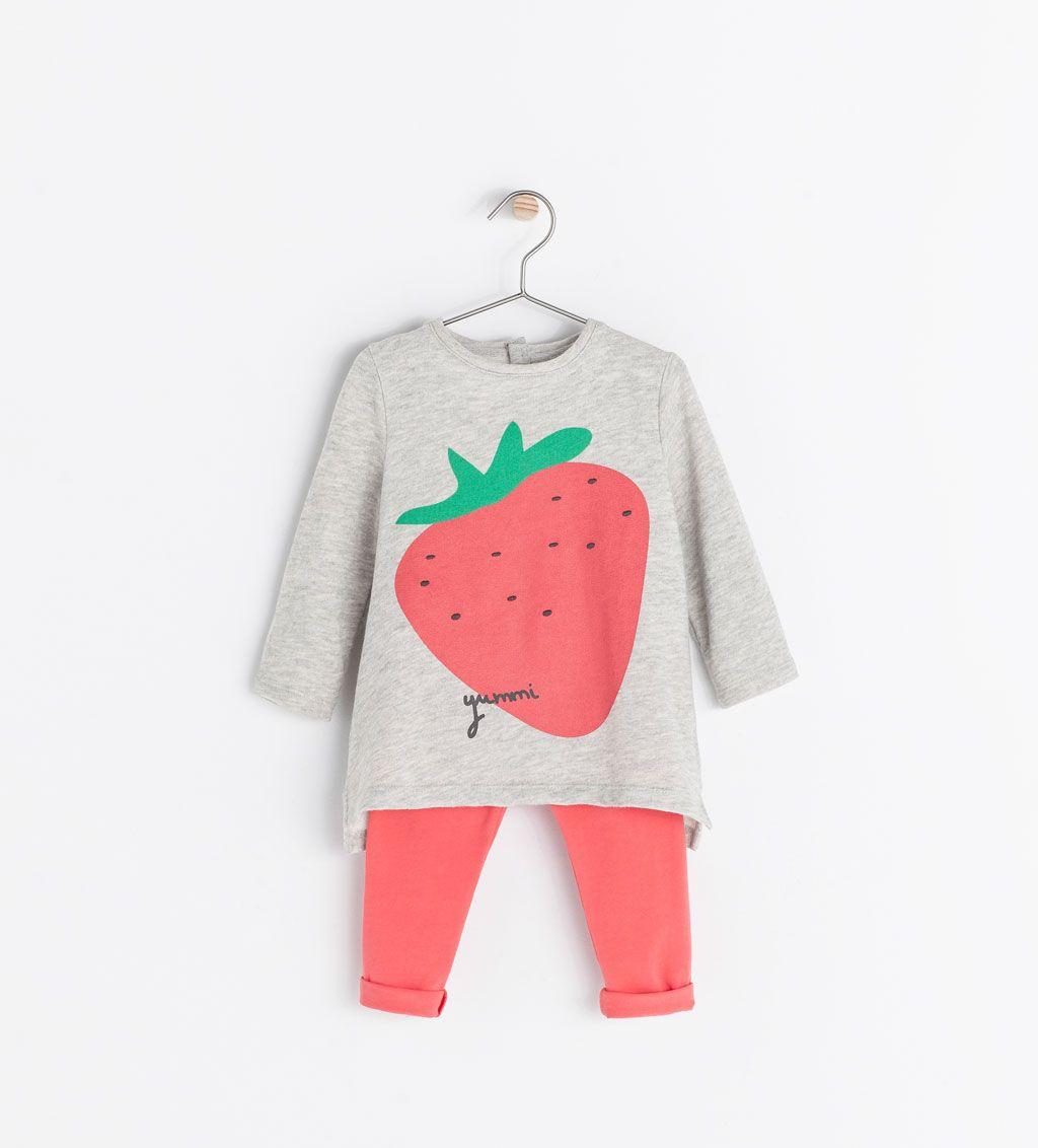 zara baby girl strawberry set   Baby girl dresses, Kids ...