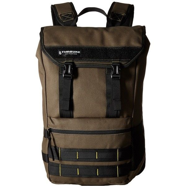 Timbuk2 Rogue (Army/Acid) Backpack Bags ($99) ❤ liked on Polyvore ...