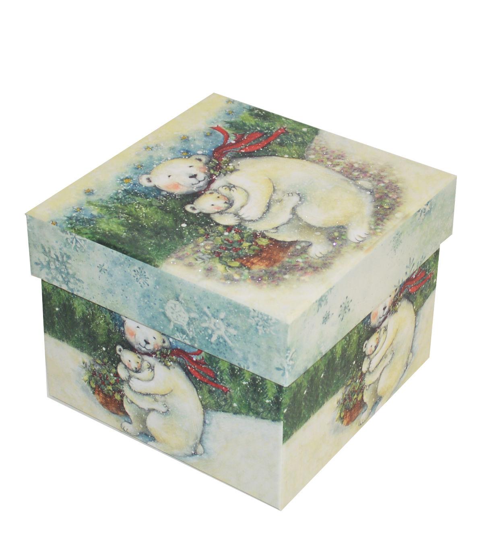 christmas medium square storage box polar bear products storage rh pinterest com
