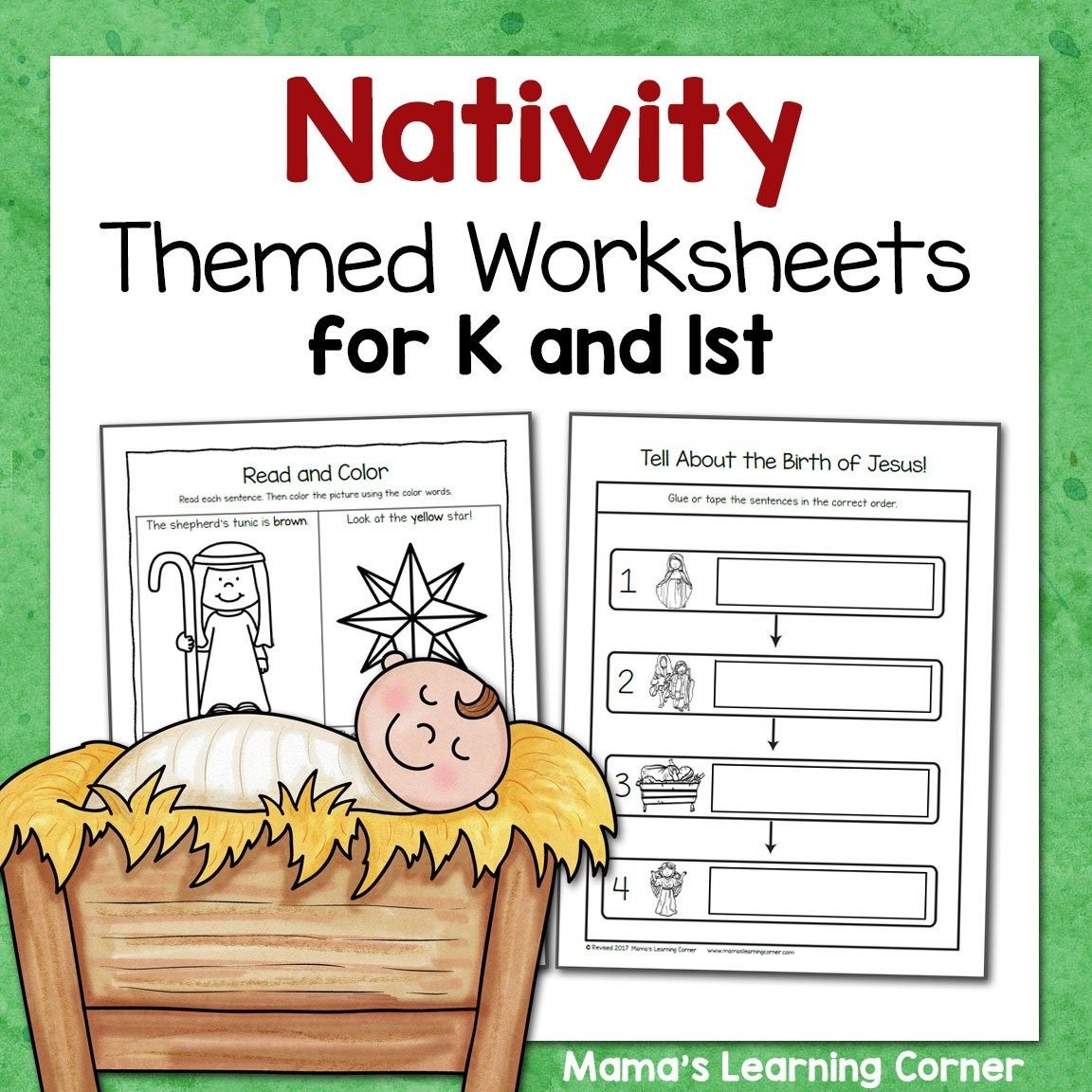 Nativity Worksheets For Kindergarten And First Grade With