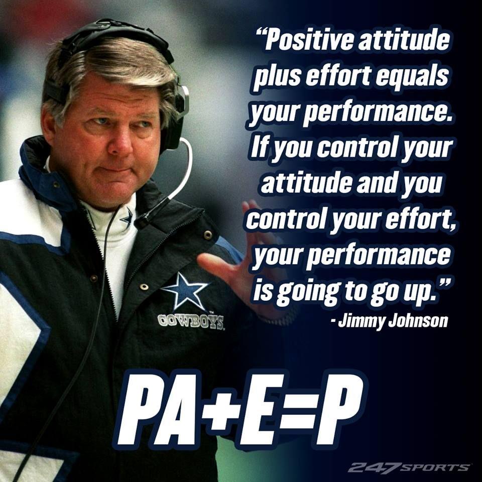 Former Dallas Cowboys Hc Jimmy Johnson Jimmy Johnson Sports Quotes Baseball Inspirational Quotes