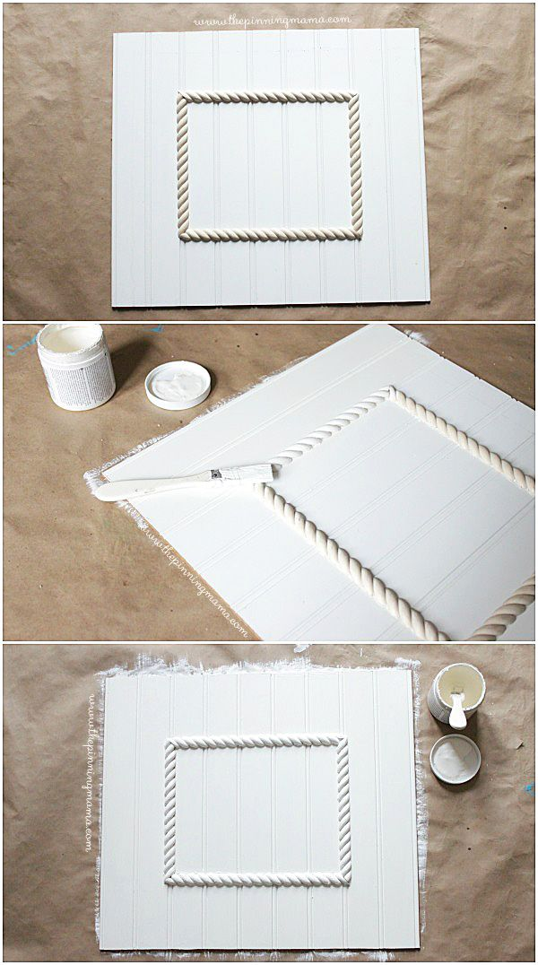 Step by Step- How to make an Easy DIY Beadboard Picture Frame | DIY ...