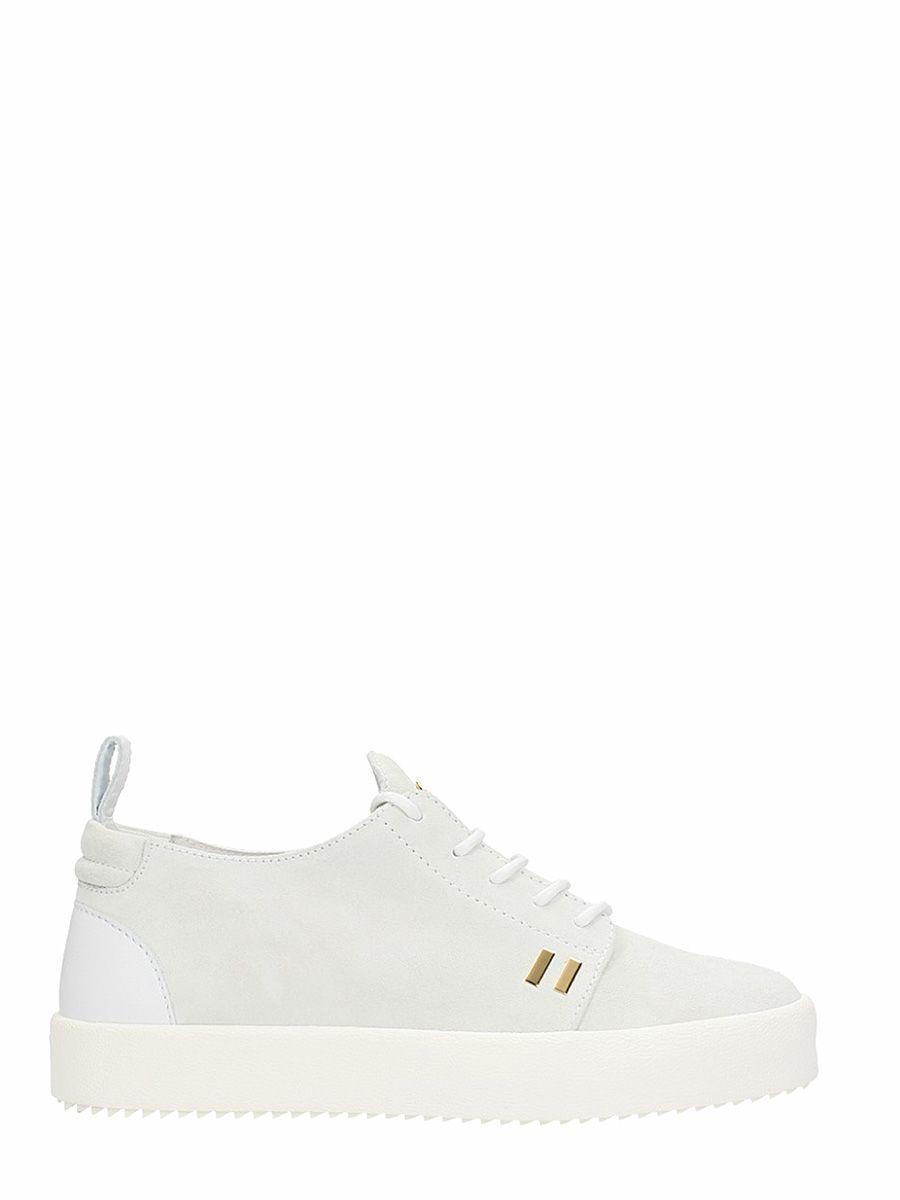 5600e87f196f9 GIUSEPPE ZANOTTI GORDON WHITE SUEDE SNEAKERS. #giuseppezanotti #shoes #