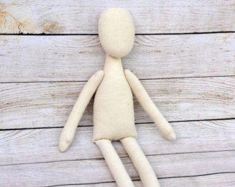 4 Blank doll bodies-15 Mary Doll blank rag doll by NilaDolss