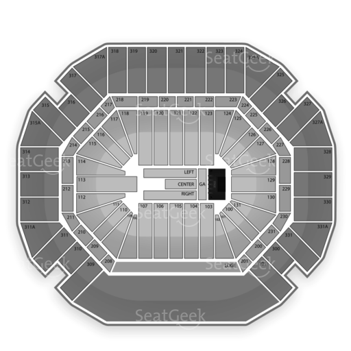 Thompson Boling Arena Seating Chart Concert Seating Charts Thompson Chart