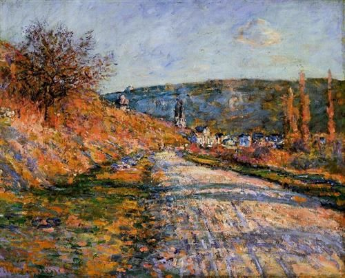 The Road to Vetheuil - Claude Monet