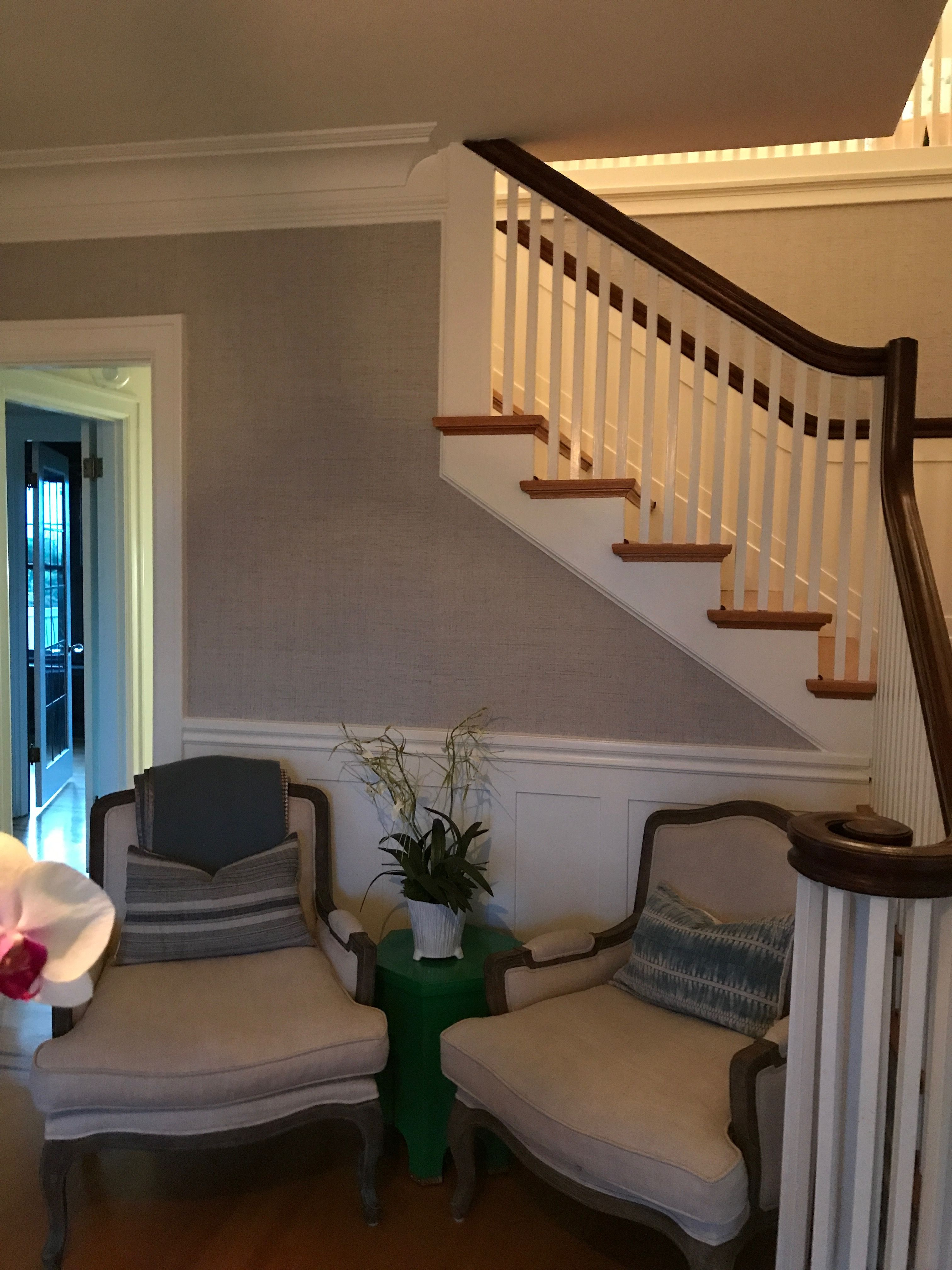 Thibaut grasscloth Decor, Home, Stairs