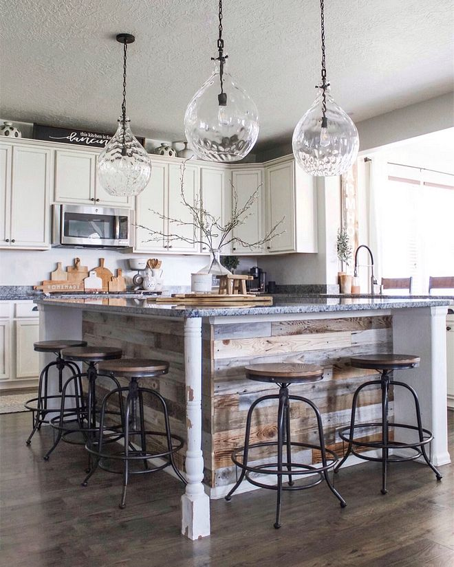 diy kitchen island we did a diy project and wrapped our kitchen island reclaimed wood on kitchen island ideas diy id=30802