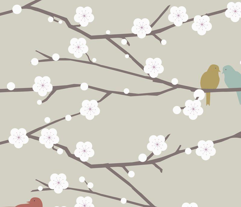 Cherry fabric, by troismiettes on Spoonflower