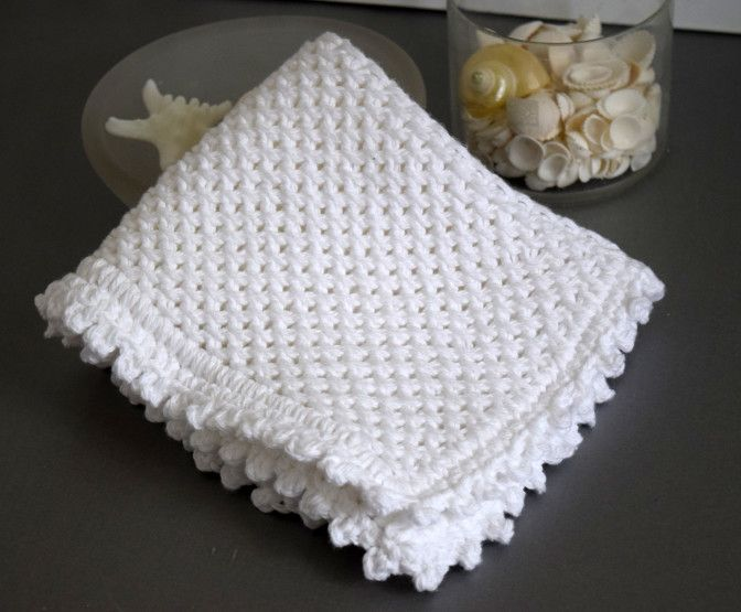 Knot another washcloth   Puntos