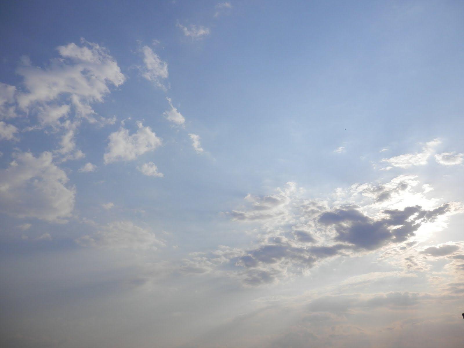 Clear sky, céu de brigadeiro.