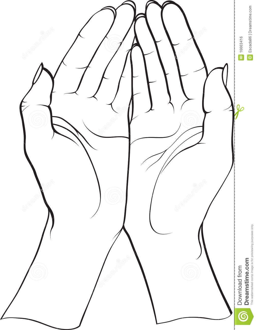 How to draw open cupped hands yahoo image search results