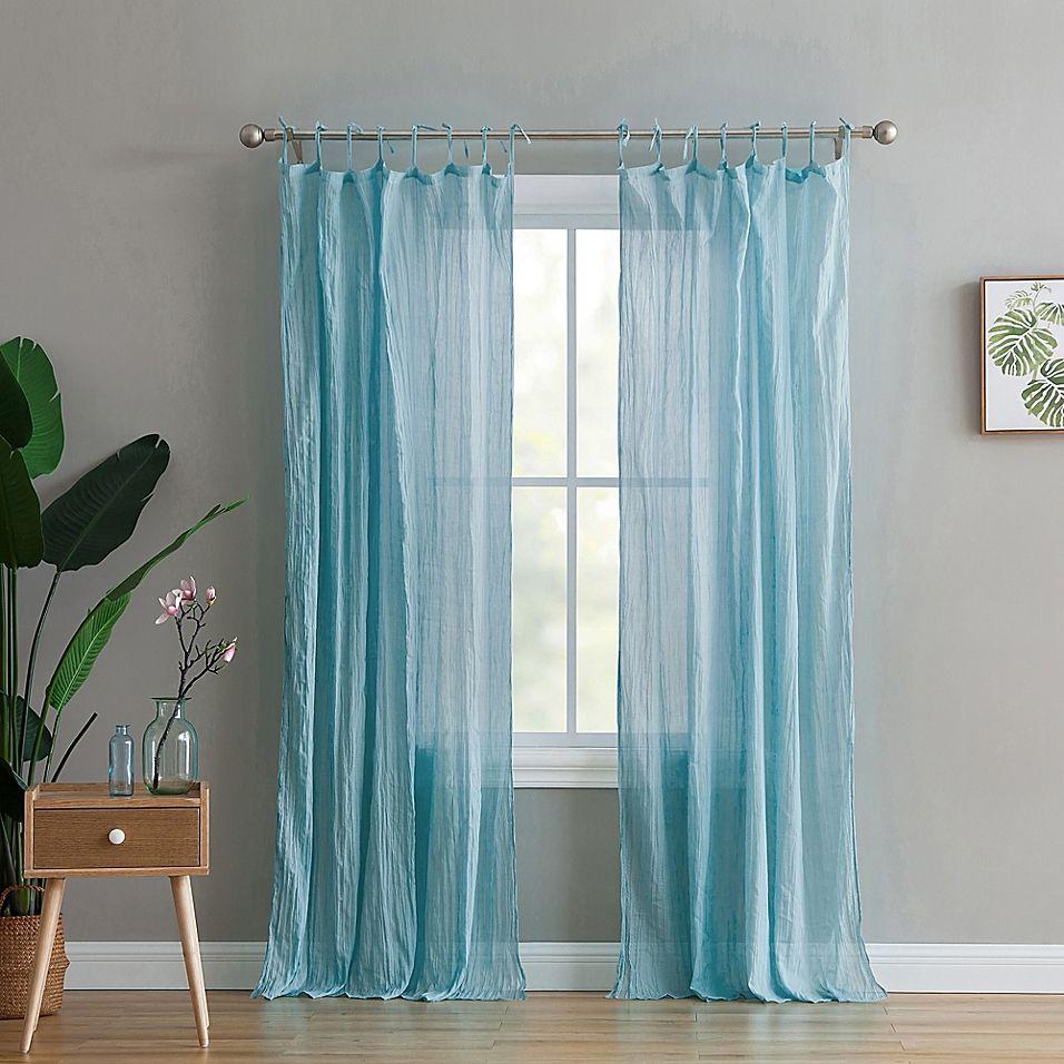 Peach Oak Clover 95 Rod Pocket Window Curtain Panel Pair In