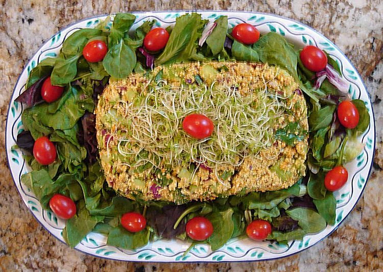 Nut Loaf. This super healthy, hearty recipe is a take-off on the traditional curried chicken salad you'd find at a gourmet deli. The difference is that it's vegan, dairy-free, cholesterol-free, and requires no cooking. So you're saving fossil fuels too!  The nuts have plenty of protein, you're getting a blast of vita...