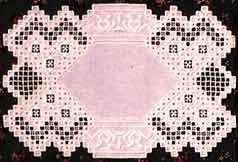"Free Patterns – Hardanger - White Doily - Elegant and unique doily design by Leona ""Onie"" Isenberg."