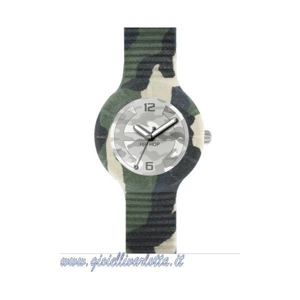 hip hop militare orologio urban camo hwu0367 camouflage Gioielleria ...