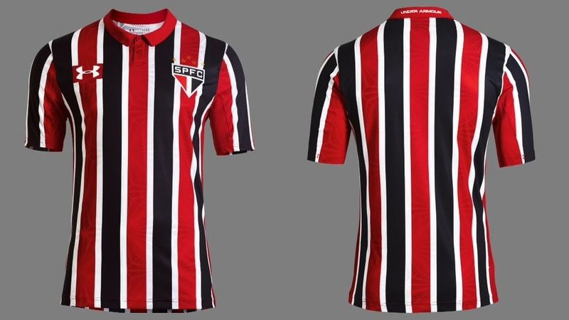 868cbc124 Camisa listrada do São Paulo FC 2016-2017 Under Armour