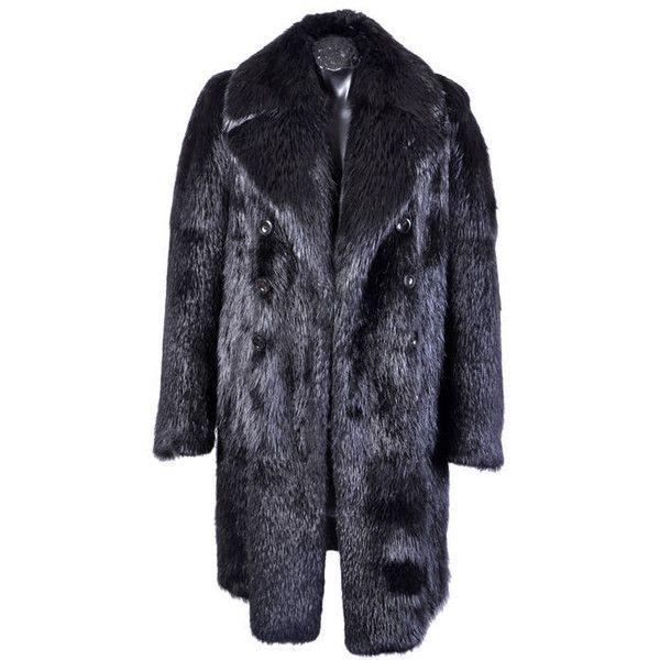 d8634d6c6be New TOM FORD BLACK BEAVER MENS FUR COAT ($17,210) ❤ liked on Polyvore  featuring men's fashion, men's clothing, men's outerwear and men's coats