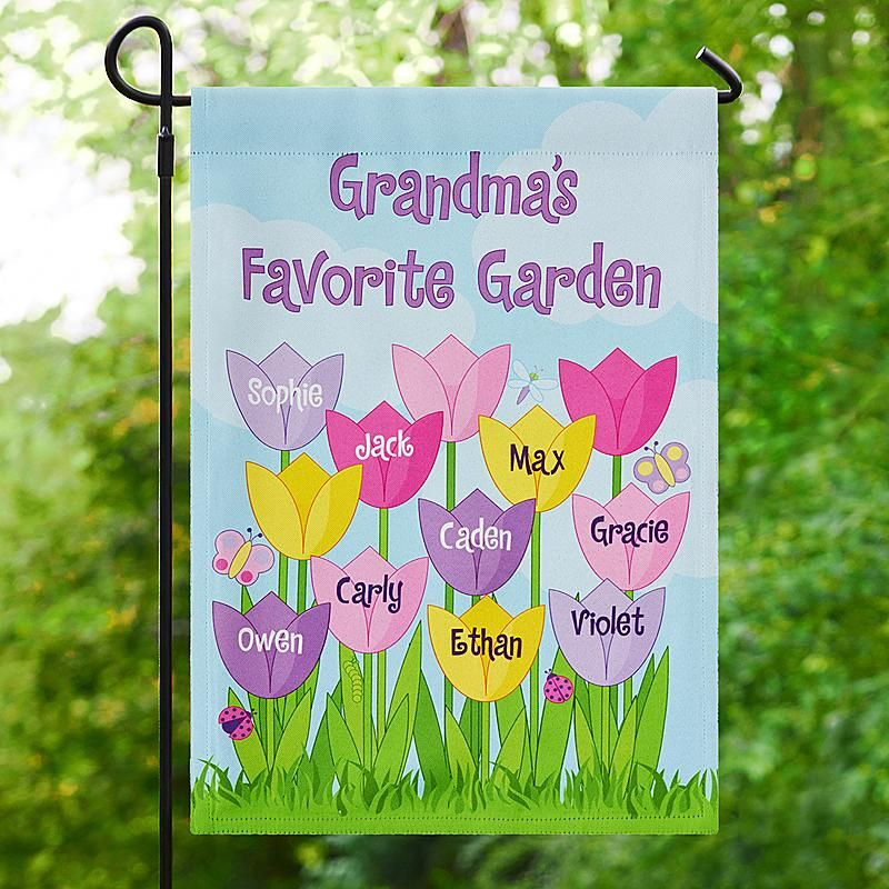 A personal creations exclusive celebrate each beloved flower in need a unique gift send tulip garden flag and other personalized gifts at personal creations negle Images