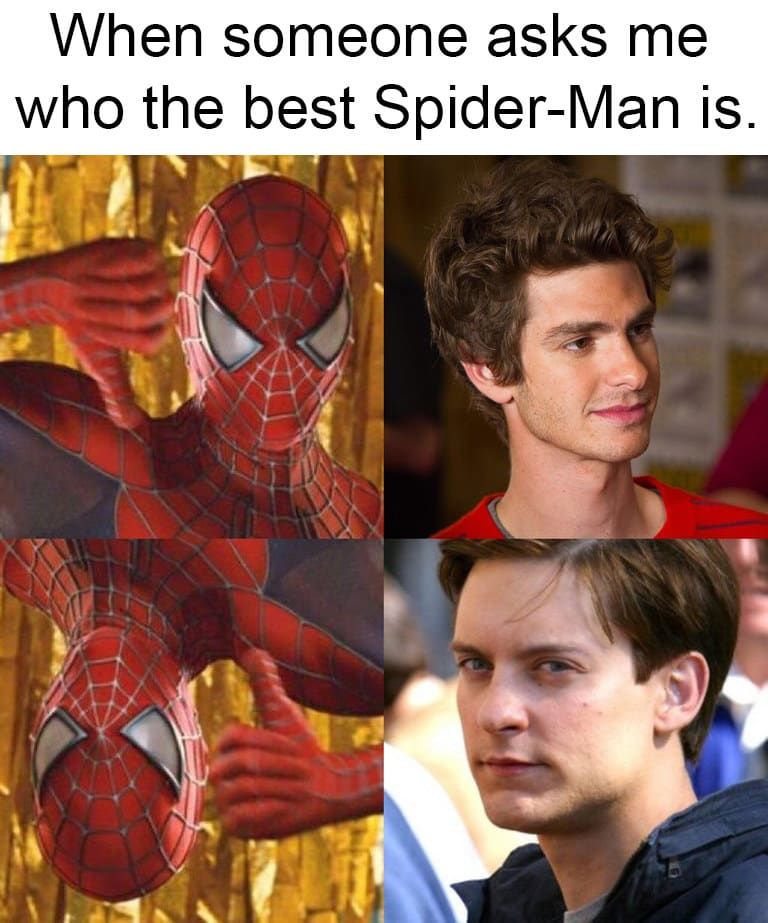 Pizza Time Spiderman Meme : pizza, spiderman, Memes, Anyone, Tobey, Maguire's, Spider-Man, Spiderman, Funny,, Spider, Trilogy,