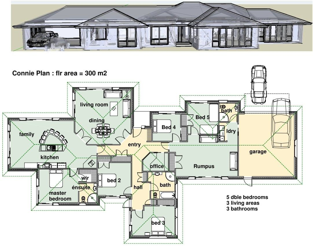 Desain Rumah 5 Kamar In 2020 House Plans South Africa Bedroom House Plans 4 Bedroom House Plans