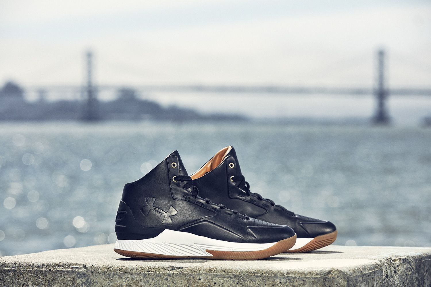 best service ae825 e0a12 UNDER ARMOUR CURRY 1 MID LUX LEATHER - BLACK | Products ...
