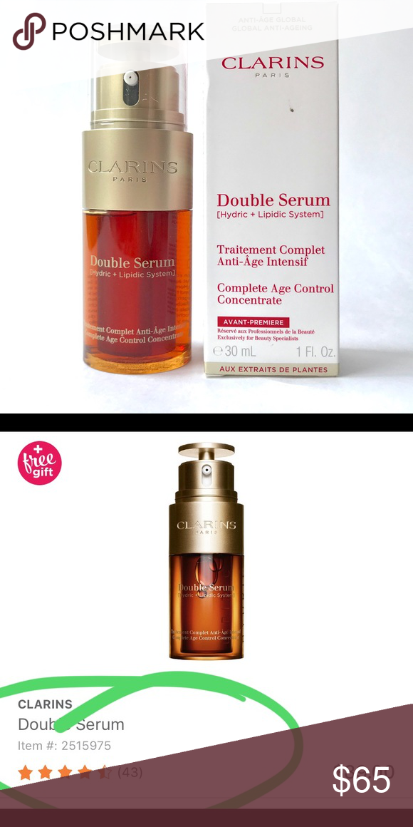 Clarins Double Serum {new formula} New and unopened Clarins