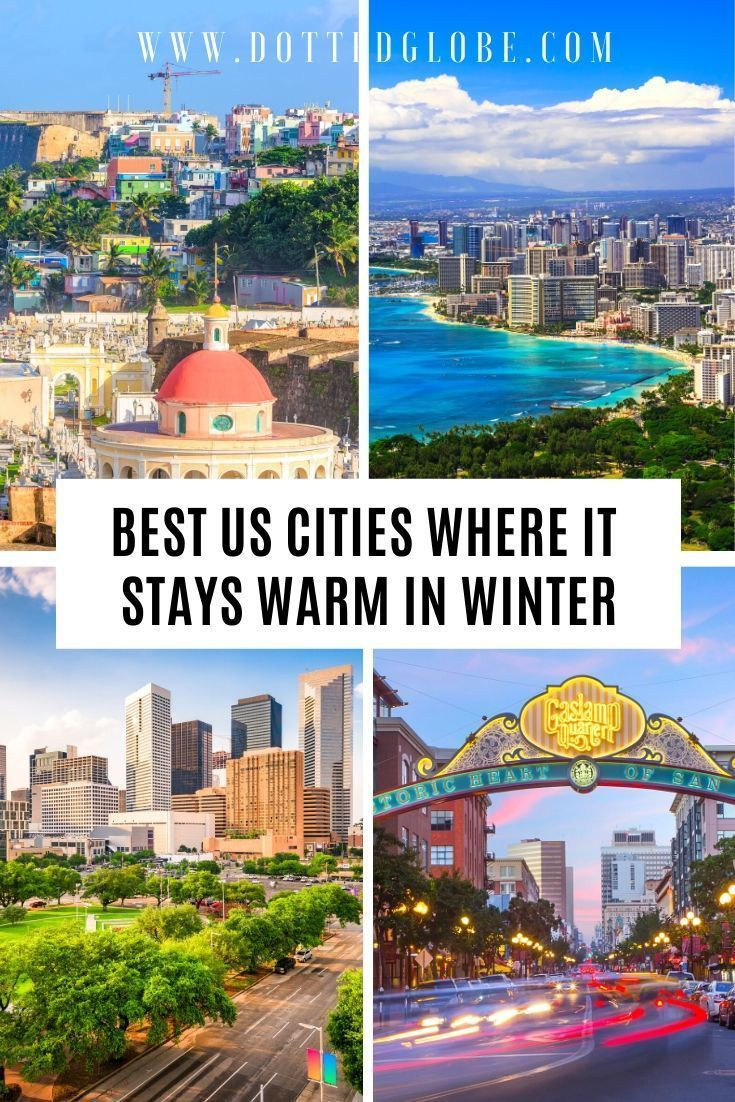 17 Best USA Winter Holiday Destinations for sun lo