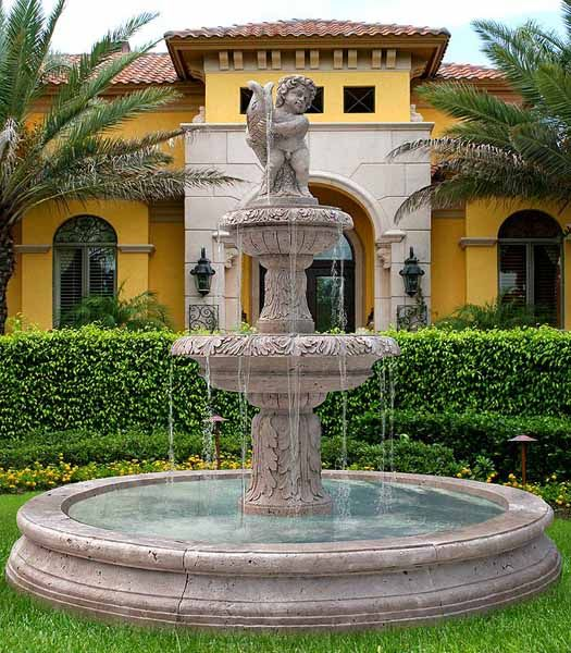 Water Fountains And Front Yard Landscaping Ideas Just Perfect For Of House
