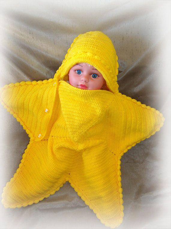 Cocoon starfish, baby blanket, newborn - 6 - 9 months, gift ideas ...
